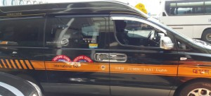 English speaking driver van taxi