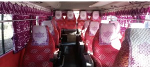 mini bus inside seats